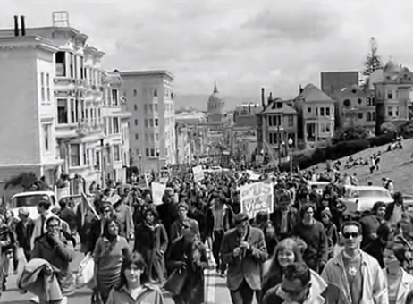 April 1967 - marching for peace, San Francisco