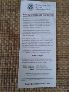 TSA sheet one