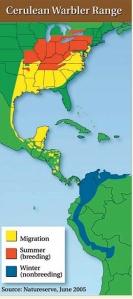 Cerulean Warbler Map