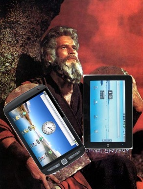Moses with his iPads